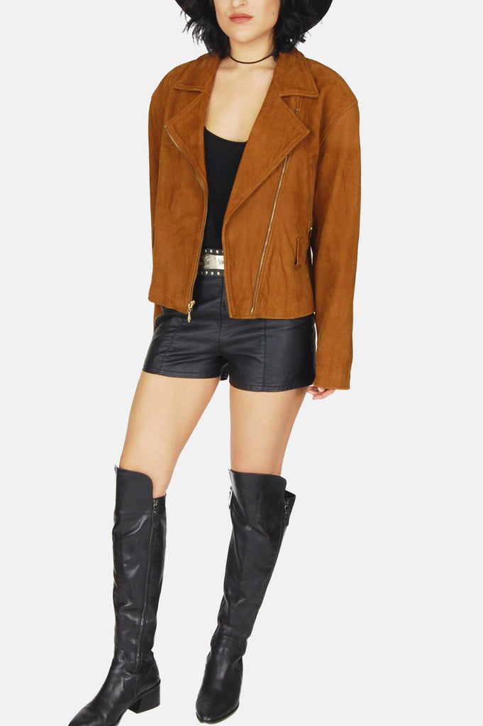 Moonlight Drive Suede Leather Moto Jacket
