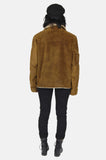 One More Chance Boutique - Vintage On The Run Shearling Leather Jacket