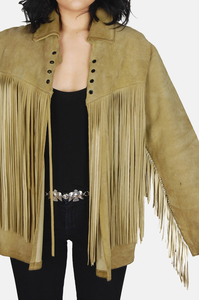 Easy Rider Fringe Suede Leather Jacket - One More Chance - 3