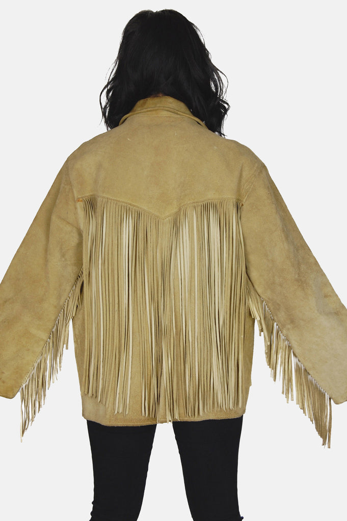 Easy Rider Fringe Suede Leather Jacket - One More Chance - 5