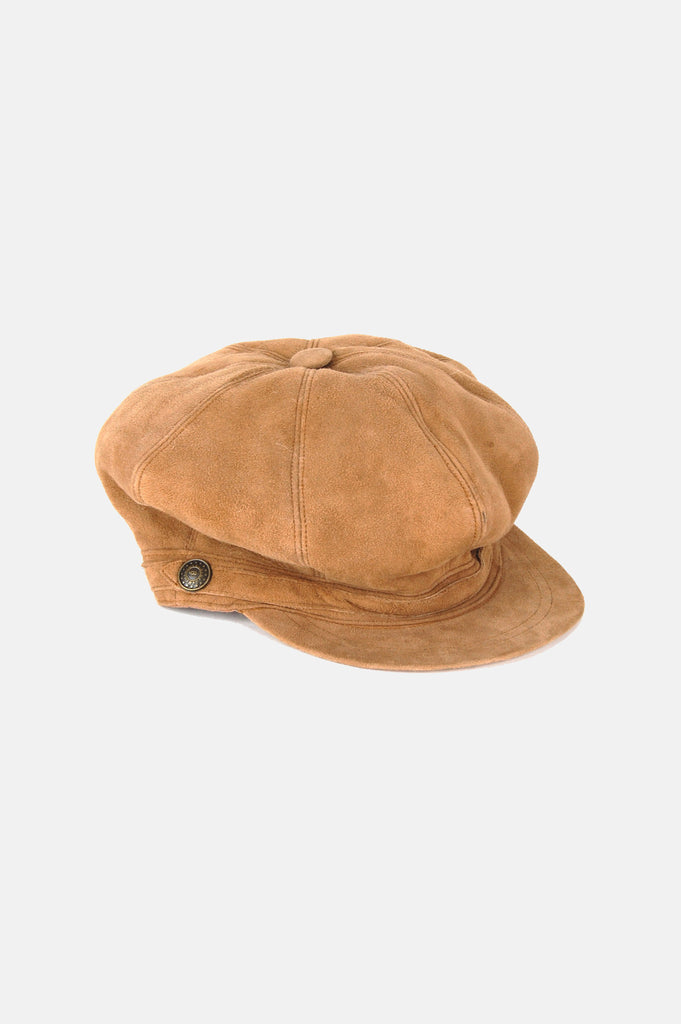 One More Chance Vintage - Vintage UGG Suede Leather Shearling Newsboy Hat