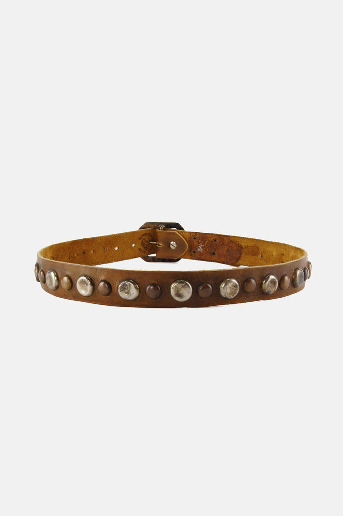 One More Chance Boutique - Vintage Old Stud Wide Leather Studded Belt