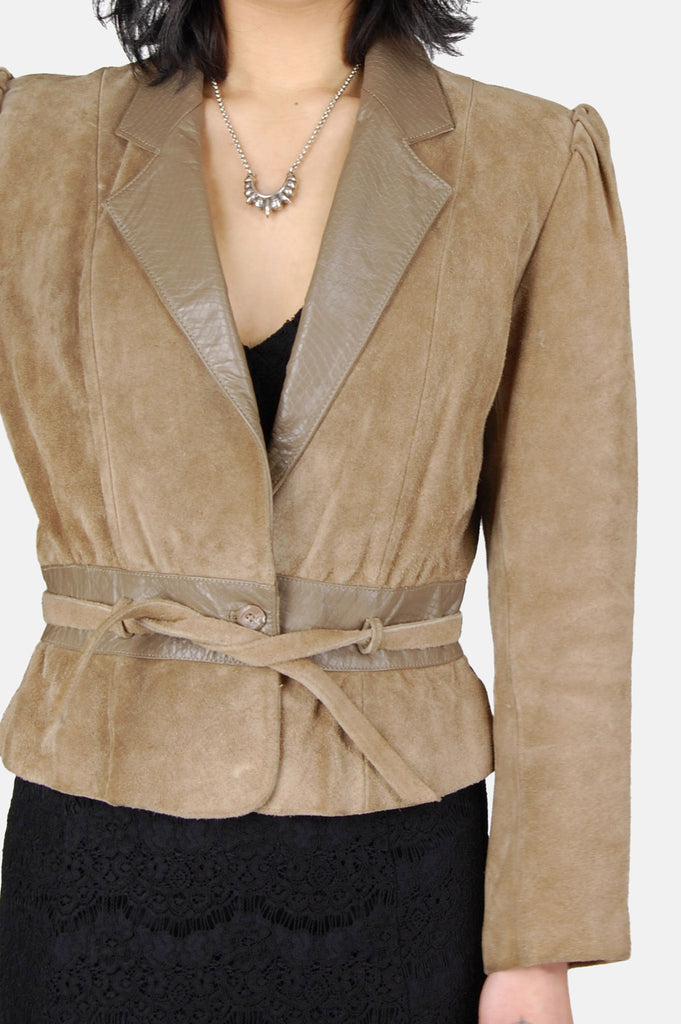 One More Chance Boutique - Vintage Tusk Suede Leather Jacket