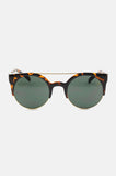 One More Chance Vintage - Freja Retro Rounded Fashion Sunglasses in Dark Tortoise