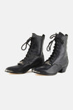 Witching Hour Lace Up Leather Ankle Boots