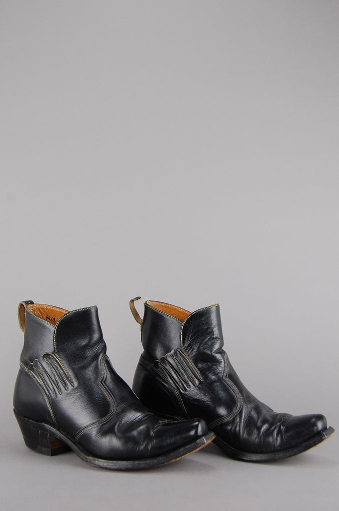 One More Chance Vintage - Acme Winged Western Leather Ankle Boots