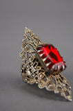 Witching Hour Ornate Ruby Jewel Victorian Ring