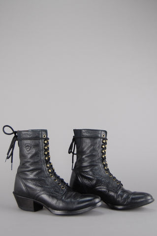 Ariat Leather Lace Up Roper Boots