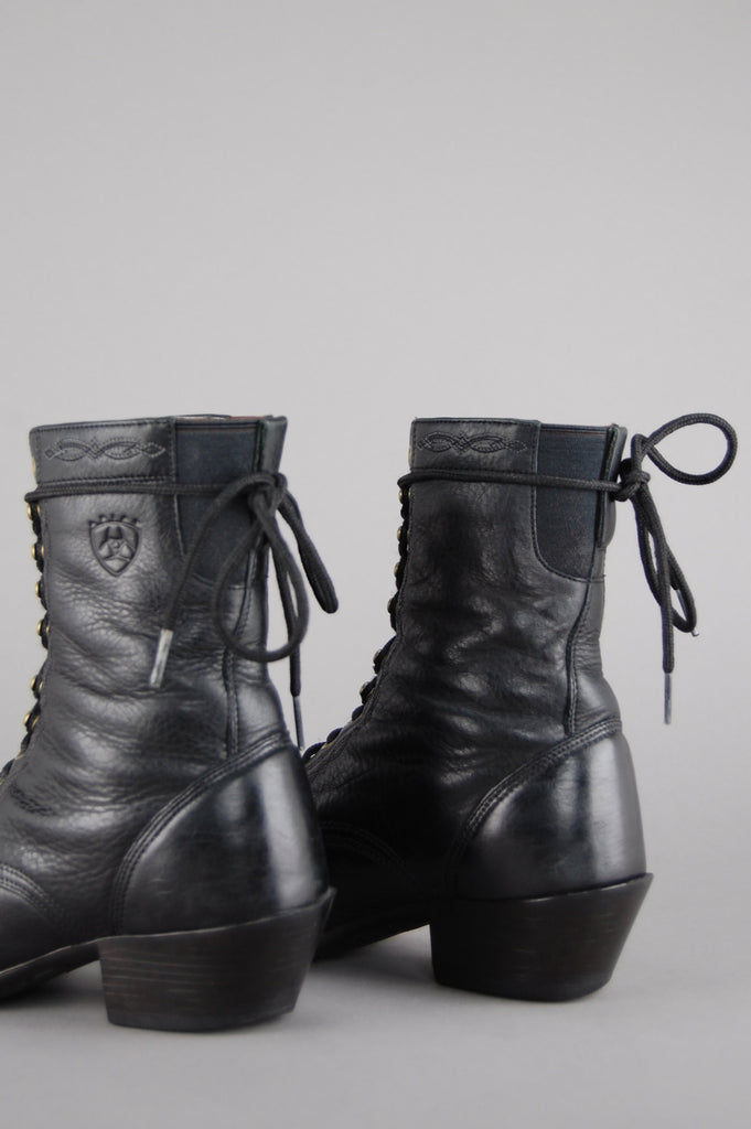 One More Chance Vintage - Vintage Ariat Leather Lace Up Roper Boots