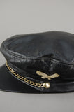 Vintage Berman's Leather Eagle Studded Chained Captains Hat - One More Chance Vintage