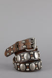 One More Chance Vintage - Vintage Old Stud Adler Distressed Studded Leather Belt