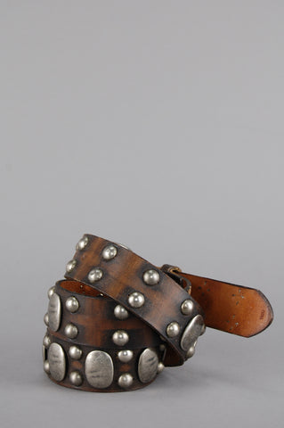Old Stud Adler Distressed Studded Leather Belt