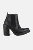 Bongo Leather Platform Pointed Chelsea Ankle Boots