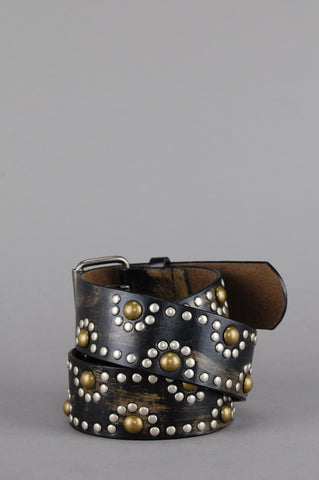 One More Chance Vintage - Vintage Wild Thing Distressed Studded Leather Belt