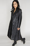 One More Chance Vintage - Vintage Because The Night Braided Leather Trench Coat