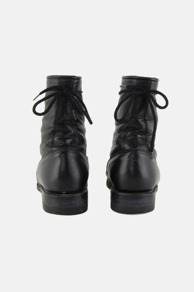 Cowtown Justin Lace Up Leather Ankle Boots