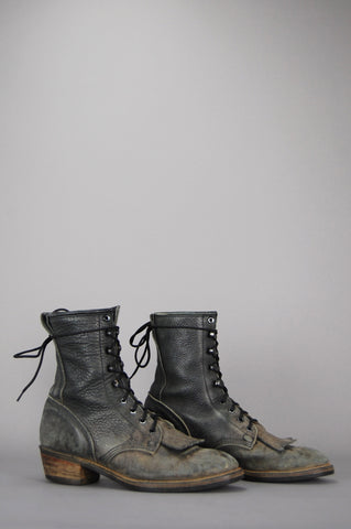 Durango Distressed Leather Lace Up Logger Boots