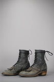 One More Chance Vintage - Vintage Durango Distressed Leather Lace Up Logger Boots