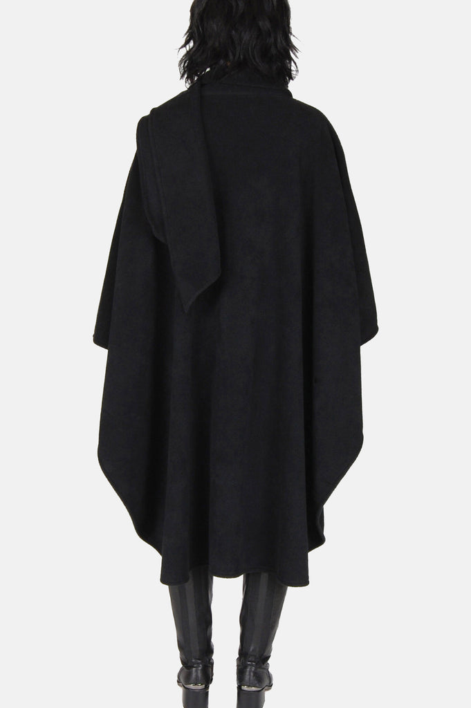 One More Chance Vintage - Vintage Winter Lady Soft Fleece Poncho Cape