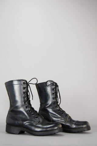 Combat Army Lace Up Leather Boots