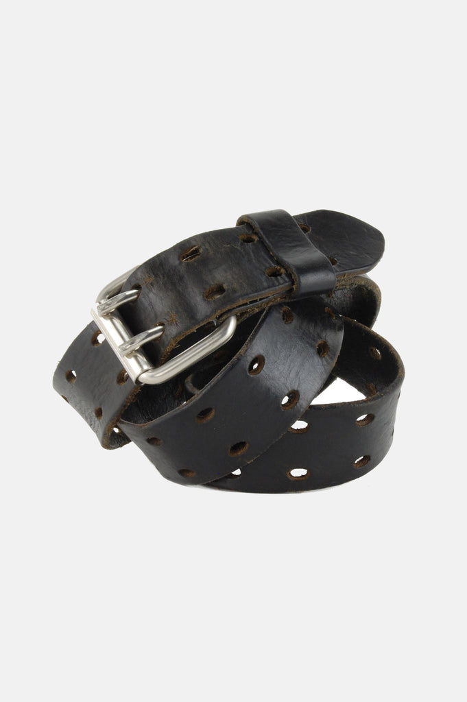 Free Me Double Prong Distressed Genuine Leather Belt