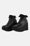 One More Chance Vintage - Vintage Club Kid Chunky Platform Wedge Boots