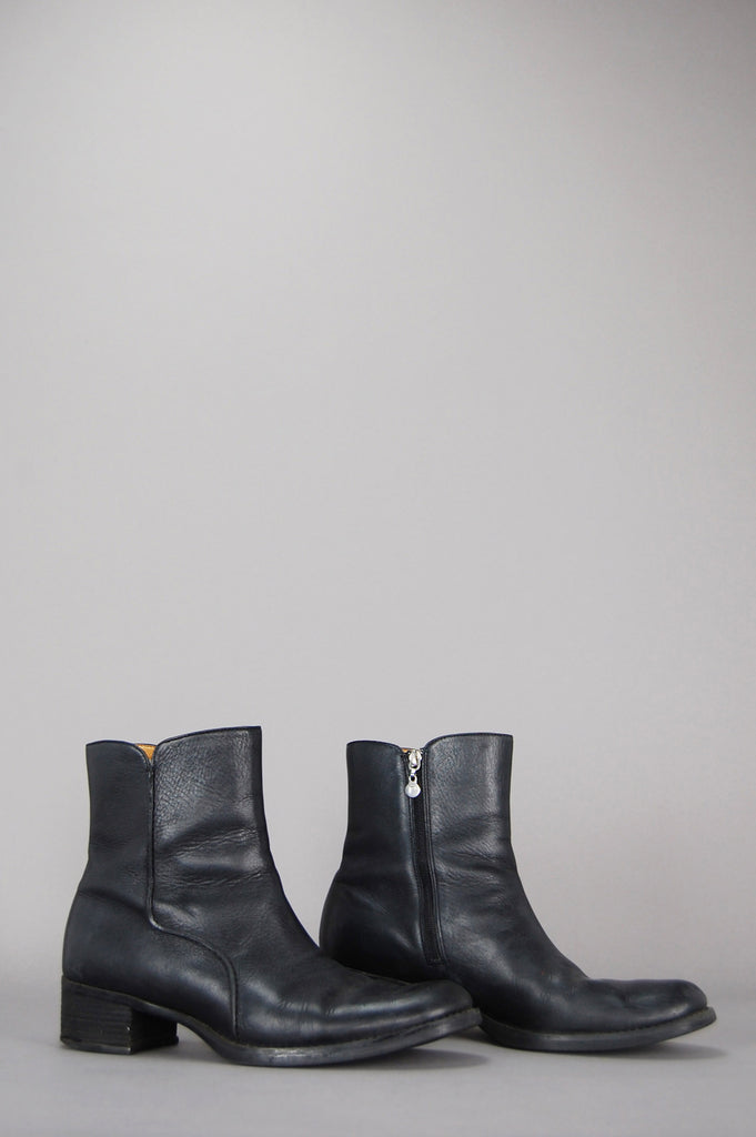 Don't Stop Leather Ankle Boots