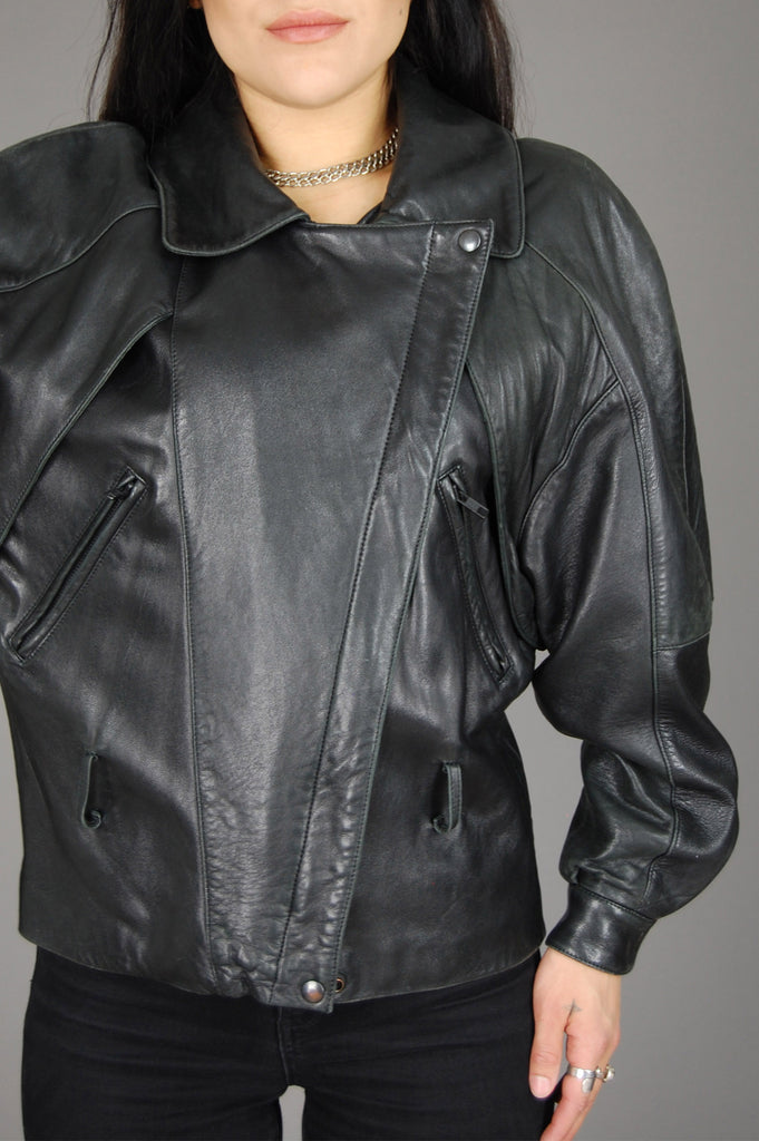 Vintage Black Michael Hoban North Beach Buttery Soft Leather Jacket - One More Chance Vintage