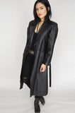 One More Chance Vintage - Vintage Street Walkin' Richie Belted Leather Trench Coat
