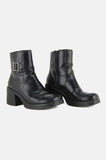 One More Chance Vintage - Vintage To The Limit Chunky Buckled Ankle Boots