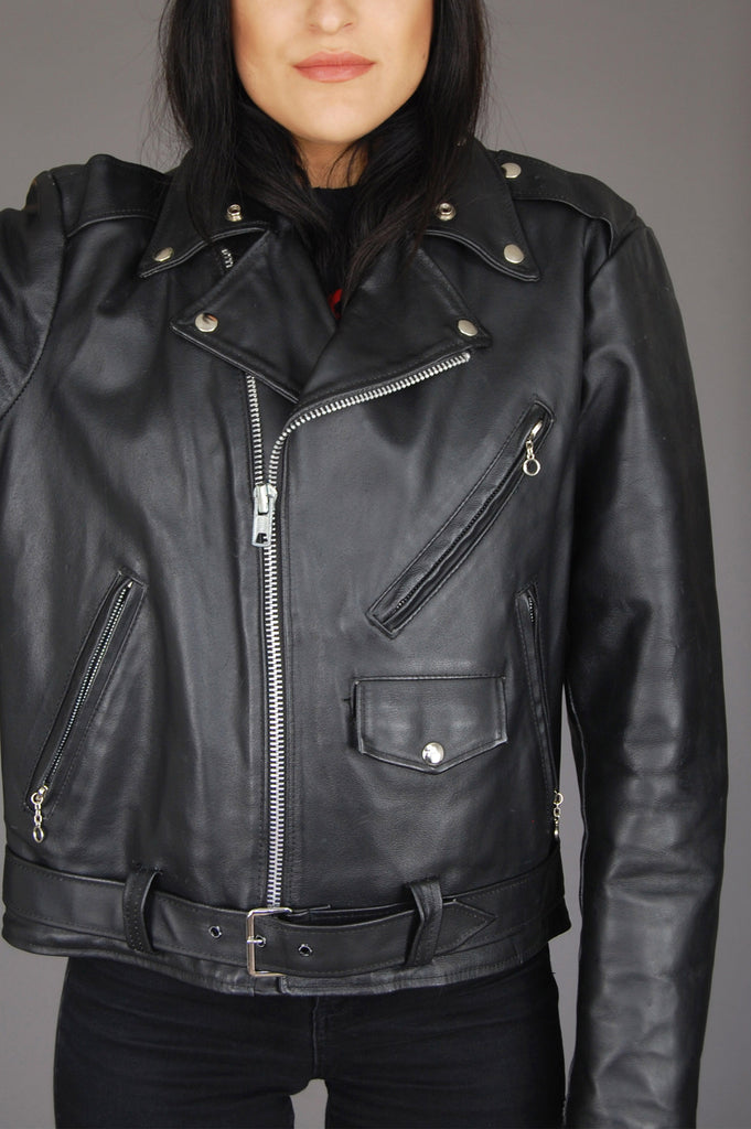 The Leather Shop Sears Motorcycle Biker Jacket - One More Chance Vintage