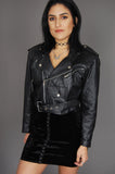 One More Chance Vintage - Vintage Wilson's Leather Moto Biker Jacket