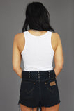 Punk Rock Lies Vintage Black Wrangler Distressed Studded Denim Shorts - One More Chance Vintage