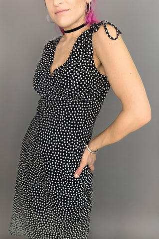 Vintage Make You Mine Black and White Polka Dot Dress - One More Chance Vintage