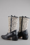Vintage Brighton Cheetah Calf Hair Leather Western Boots - One More Chance Vintage