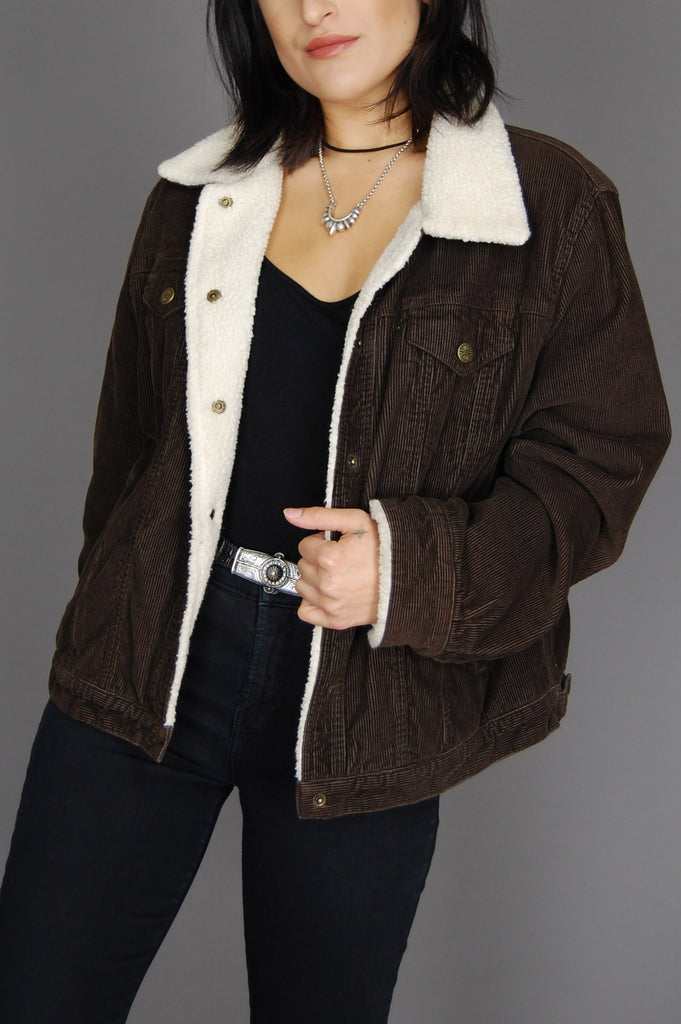One More Chance Vintage - Vintage Livin' Is Easy Corduroy Sherpa Jacket