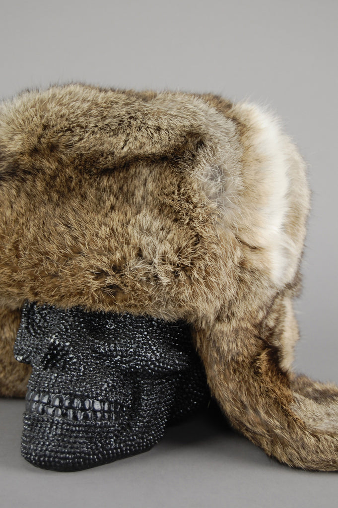 Vintage Brown Mink Fur Astrakhan Russian Trapper Winter Ski Hat - One More Chance Vintage