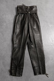 Wicked Woman Lace Up Leather Pants with Removable Belt - Size 26 - One More Chance Vintage