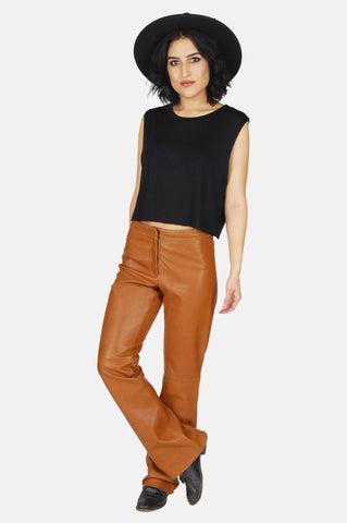 One More Chance Vintage - Vintage Livin' In The Past Leather Pants