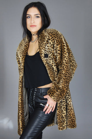 Style VI Ltd. Faux Fur Chunky Leopard Coat - One More Chance Vintage