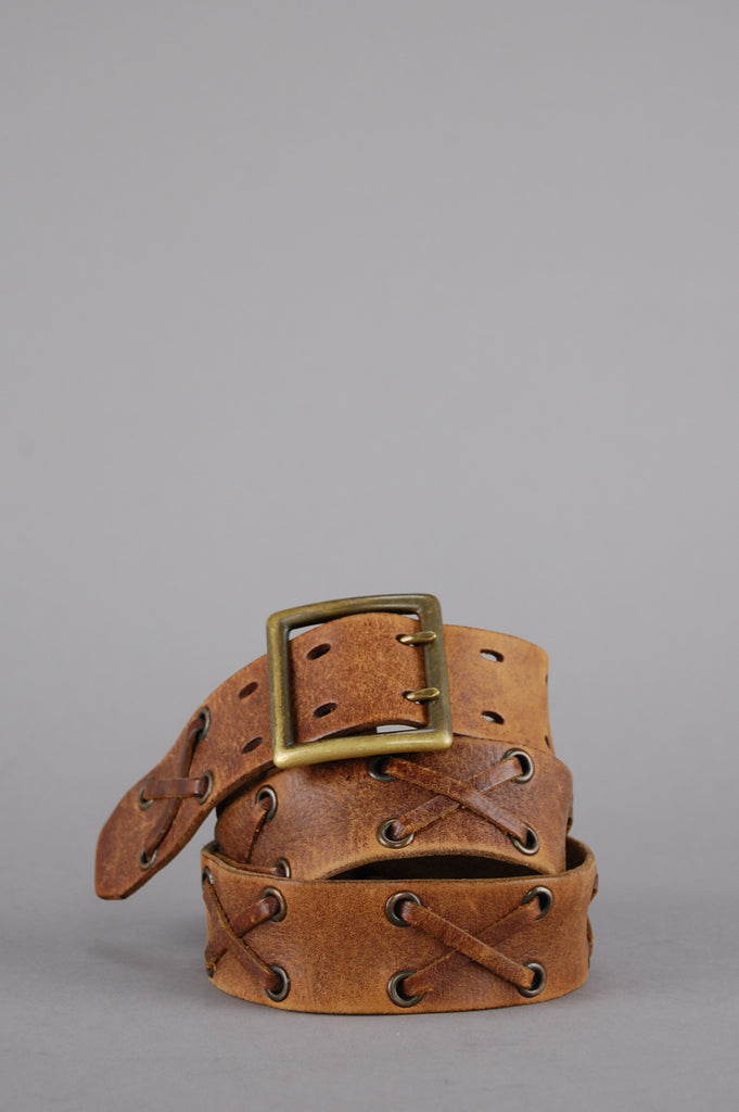 One More Chance Vintage - Vintage X Marks The Spot Distressed Leather Belt