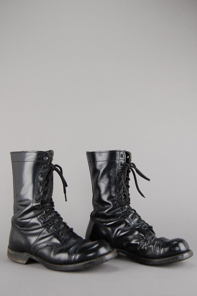 One More Chance Vintage - Vintage Corcoran Heavy Duty Leather Military Combat Boots