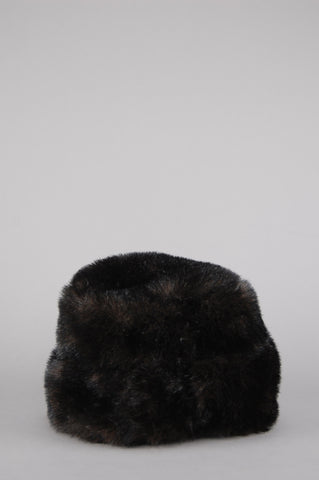 One More Chance Vintage - Vintage Astrakhan Russian Faux Fur Hat - Brown