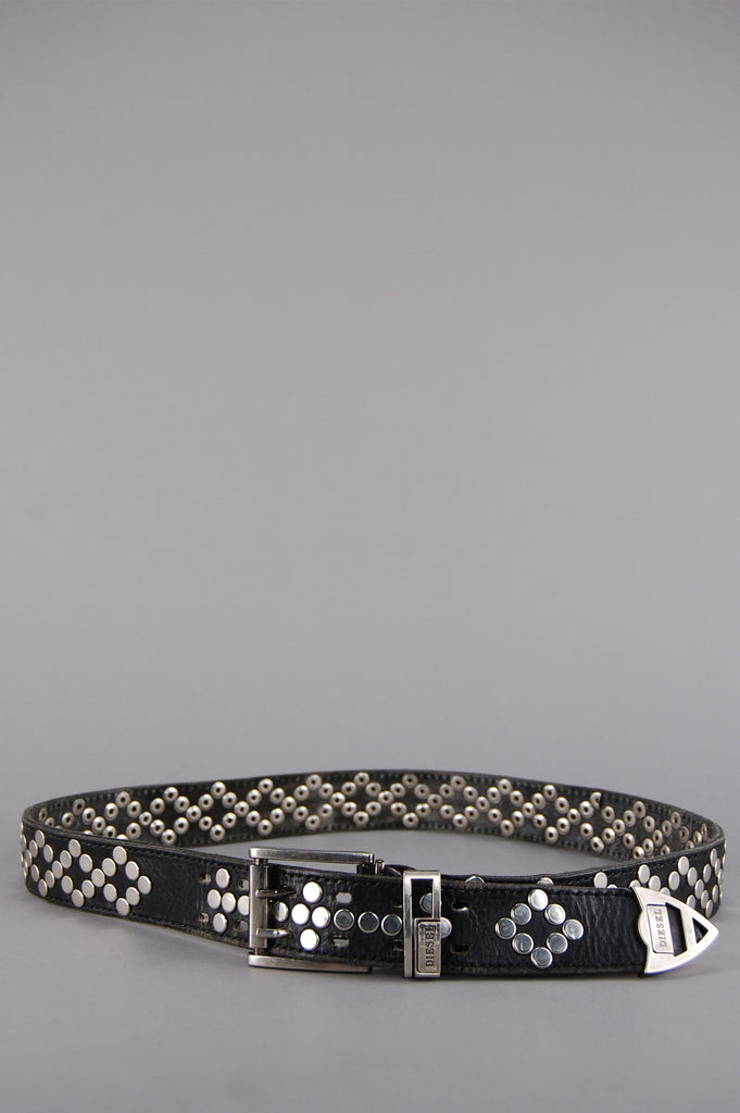 One More Chance Vintage - Vintage Born Wild Diesel Studded Leather Belt