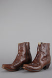 One More Chance Vintage - Vintage Born To Move Durango Leather Ankle Boots