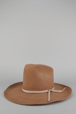 Vintage Dynafelt Custom Made Tan Felt Wide Brim Western Cowboy Hat - One More Chance Vintage