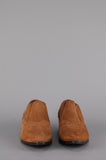 One More Chance Vintage - Vintage Elle Western Suede Leather Pointed Ankle Boots