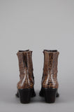 Franco Sarto Snakeskin Leather Pointed Ankle Boots