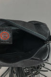 One More Chance Vintage - Vintage Harley Davidson Fringe Leather Belt Fanny Pack Bag