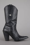 One More Chance Vintage - Vintage Harley Davidson Heeled Leather Cowgirl Boots